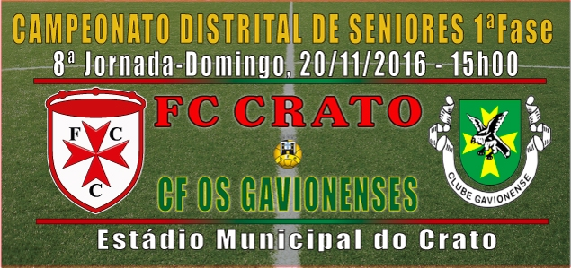 CAMPEONATO DISTRITAL DE SENIORES 2016-2017 1ªFase